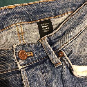 H&M Men's 32/32 Blue Button Fly Denim Jeans